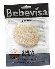 Парфюмерия и Козметика Гъба за измиване, овална - Bebevisa Pure Konjac Sponge