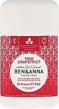 Парфюмерия и Козметика Дезодорант на базата на сода с аромат на розов грейпфрут - Ben & Anna Natural Soda Deodorant Pink Grapefruit