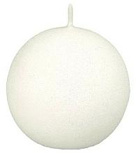 Парфюмерия и Козметика Декоративна свещ, топка, бяла, 10 см - Artman Glamour