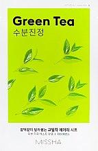 Парфюмерия и Козметика Памучна маска за лице с екстракт от зелен чай - Missha Airy Fit Green Tea Sheet Mask