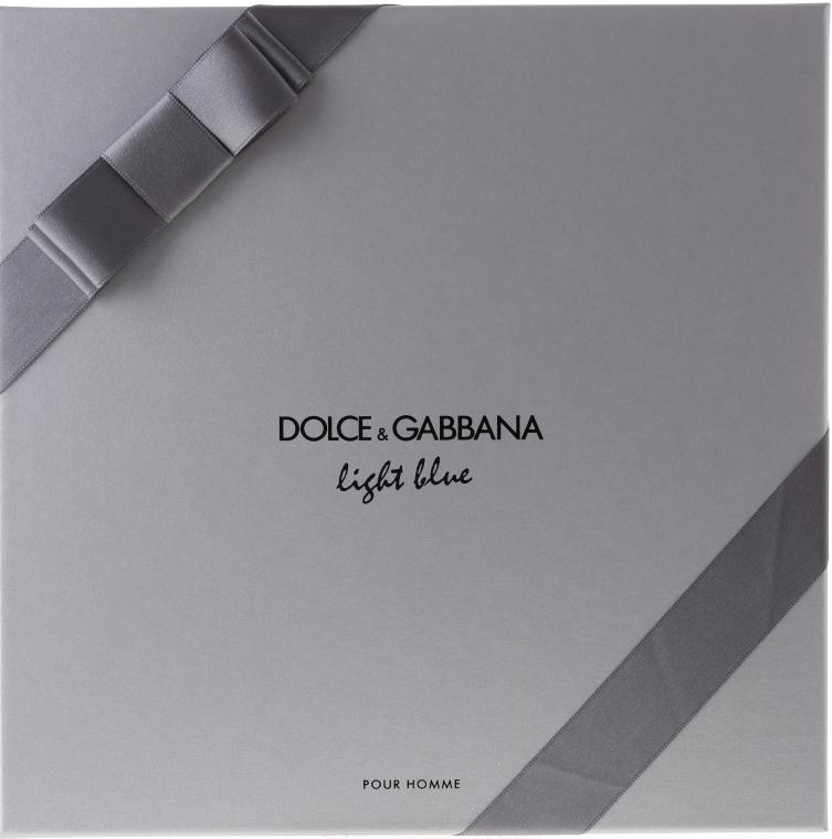 Dolce & Gabbana Light Blue Pour Homme - Комплект (edt 125 + sh/g 50 + a/sh balm 75) — снимка N2