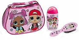 Парфюмерия и Козметика Air-Val International LOL Surprise - Комплект за деца (пяна-шамп./120ml + четка + козм. чанта)