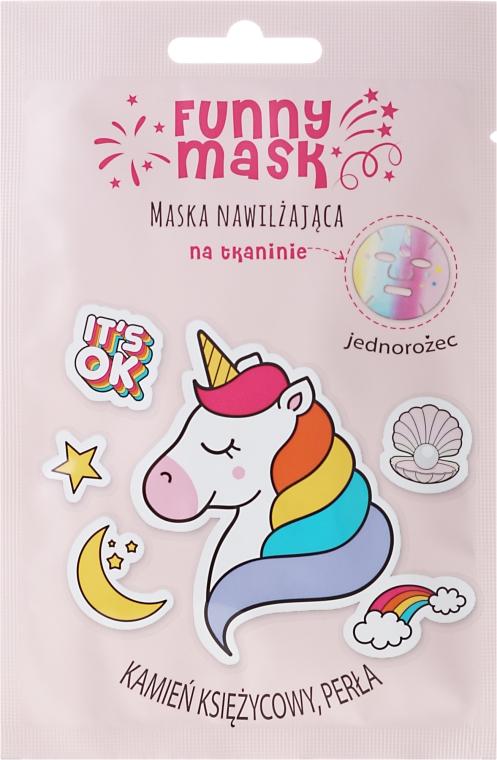 """Хидратираща памучна маска за лице """"Еднорог"""" - Marion Funny Mask"""
