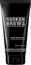 Парфюмерия и Козметика Моделираща паста за коса - Redken Brews Liquid Matte Paste