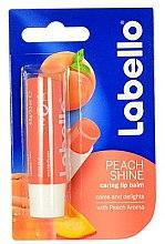 """Парфюмерия и Козметика Балсам за устни """"Праскова"""" - Labello Lip Care Peach Shine Lip Balm"""