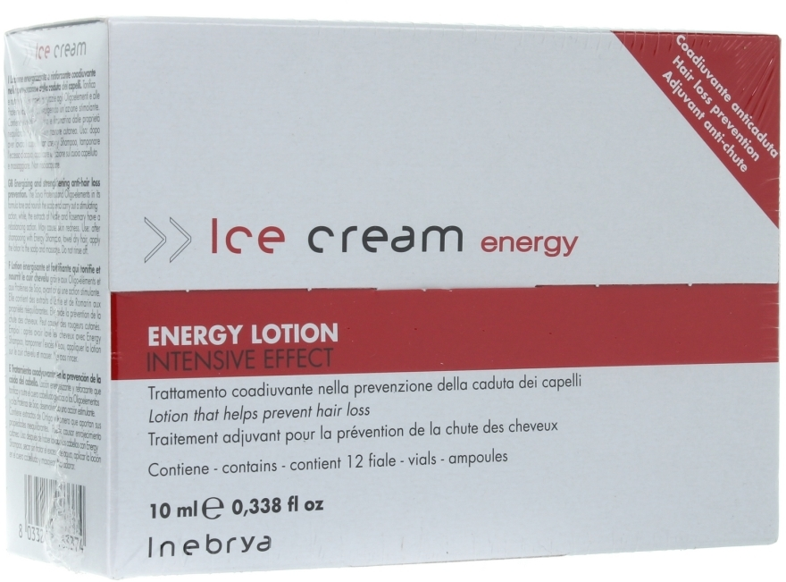 Серум против косопад - Inebrya Ice Cream Energy Lotion Intensive — снимка N1