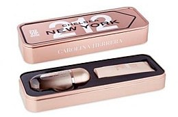 Парфюми, Парфюмерия, козметика Carolina Herrera 212 Vip Rose - Комплект (парф. вода/50ml + лосион за тяло/75ml)