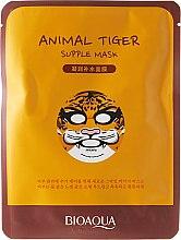 """Парфюми, Парфюмерия, козметика Маска за лице от плат """"Тигър"""" - Bioaqua Animal Tiger Supple Mask"""