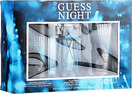Парфюмерия и Козметика Guess Night - Комплект (тоал. вода/100ml + душ гел/200ml + део/226ml)