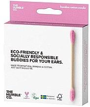 Парфюмерия и Козметика Бамбукови клечки за уши - The Humble Co. Cotton Swabs Pink
