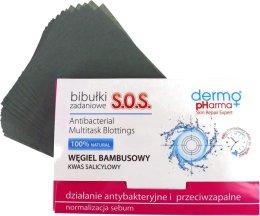 Парфюми, Парфюмерия, козметика Матиращи кърпички с бамбуков въглерод - Dermo Pharma S.O.S.