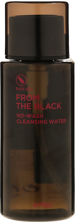 Почистваща вода за лице - A'pieu From The Black No Wash Cleansing Water — снимка N1