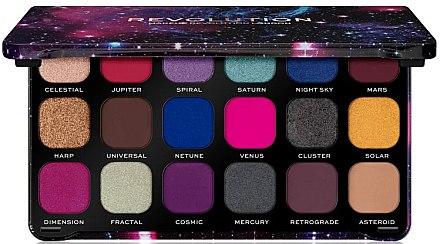 Палитра сенки за очи, 18 цвята - Makeup Revolution Forever Flawless Palette