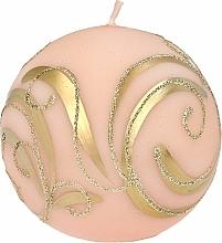 Парфюмерия и Козметика Декоративна свещ , топка , розова , 8 см - Artman Christmas Ornament