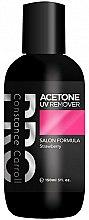 Парфюмерия и Козметика Препарат за премахване на хибриден лак - Constance Carroll Aceton UV Remover Strawberry