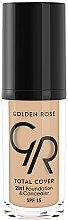 Парфюми, Парфюмерия, козметика Фон дьо тен - Golden Rose Total Cover 2in1 Foundation & Concealer