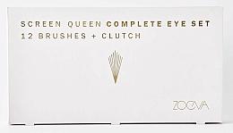 Комплект четки за грим с несесер - Zoeva Screen Queen Complete Eye Brush Set (12 brushes + clutch) — снимка N7