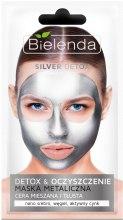 Парфюмерия и Козметика Детокс маска за мазна и комбинирана кожа - Bielenda Silver Detox Metallic Mask