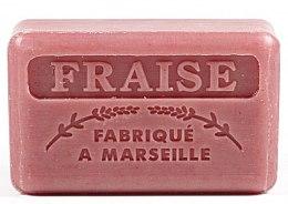 Парфюмерия и Козметика Марсилски сапун с ягода - Foufour Savonnette Marseillaise Fraise