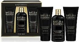 Парфюми, Парфюмерия, козметика Комплект за мъже - Baylis & Harding Black Pepper & Ginseng (душ гел/200ml + афтър. балсам/200ml + шампоан-гел/300ml)