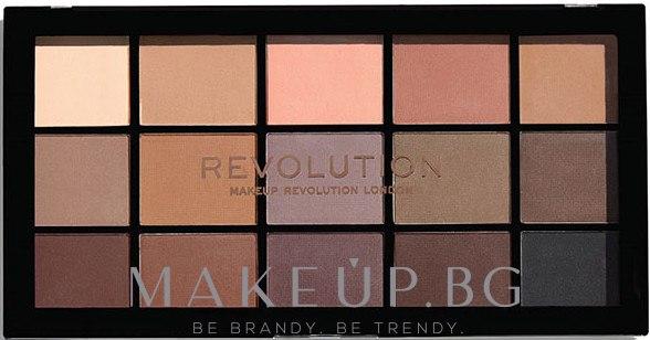 Палитра сенки за очи - Makeup Revolution Re-Loaded Palette — снимка Basic Mattes