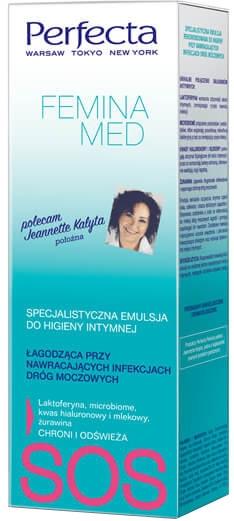 Специална успокояваща емулсия за интимна хигиена - Perfecta Femina Med SOS