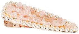 Парфюмерия и Козметика Фиба за коса с розов кварц - Crystallove Rose Quartz Hair Clip