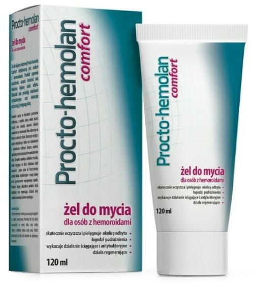 Почистващ интимен гел при хемороиди - Aflofarm Procto-Hemolan Comfort Cleaning Gel