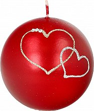Парфюмерия и Козметика Декоративна свещ червена топка, 8см - Artman Forever