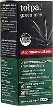 Парфюмерия и Козметика Освежаващ крем против бръчки - Tolpa Green Men Cream