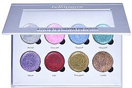 Парфюмерия и Козметика Палитра блясък за очи - Bellapierre 8 Color Pro Glitter Eye Palette
