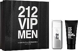 Парфюми, Парфюмерия, козметика Carolina Herrera 212 VIP Men - Комплект (тоал.вода/100ml + душ гел/100ml)