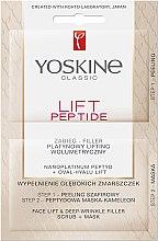 Парфюмерия и Козметика Двустепенна лифтинг процедура за лице - Lift Peptide Face Lift and Deep Wrinkle Filler Face Scrub + Mask