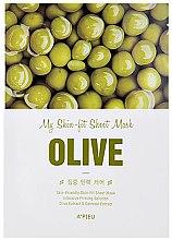 Парфюми, Парфюмерия, козметика Интензивно стягаща памучна маска за лице с екстракт от маслина - A'pieu My Skin-Fit Sheet Mask Olive