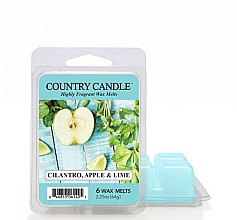 Парфюмерия и Козметика Ароматен восък - Country Candle Cilantro, Apple & Lime Wax Melts