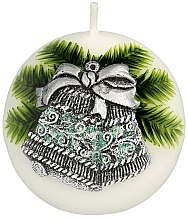 Парфюмерия и Козметика Декоративна свещ, 8 см - Artman Christmas Bell Candle Ball