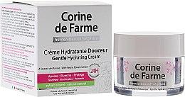 Парфюми, Парфюмерия, козметика Нежен хидратиращ крем за суха и чувствителна кожа - Corine de Farme