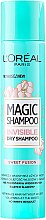 Парфюмерия и Козметика Сух шампоан за коса - L'Oreal Paris Magic Shampoo Invisible Dry Shampoo Sweet Fusion