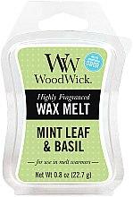 Парфюмерия и Козметика Ароматен восък - WoodWick Wax Melt Mint Leaf & Basil