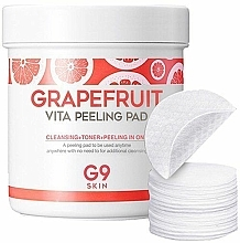 Парфюмерия и Козметика Ексфолиращи пачове за лице с грейпфрут - G9Skin Grapefruit Vita Peeling Pad