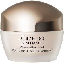 Парфюми, Парфюмерия, козметика Хидратиращ антистареещ нощен крем за лице - Shiseido Benefiance WrinkleResist24 Night Cream