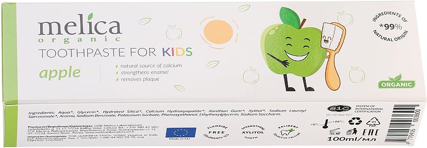 Детска паста за зъби с вкус на ябълка - Melica Organic Toothpaste For Kids Apple — снимка N2