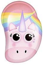 Парфюмерия и Козметика Детска четка за коса - Tangle Teezer The Original Mini Children Detangling Hairbrush Rainbow The Unicorn