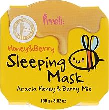 Парфюмерия и Козметика Подхранваща нощна маска за лице с акациев мед и горски плодове - Prreti Honey & Berry Sleeping Mask
