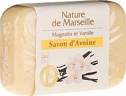 Парфюмерия и Козметика Овесен сапун с аромат на магнолия и ванилия - Nature de Marseille Soap