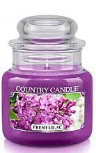 "Парфюми, Парфюмерия, козметика Ароматна свещ в бурканче ""Свеж люляк"" - Country Candle Fresh Lilac"