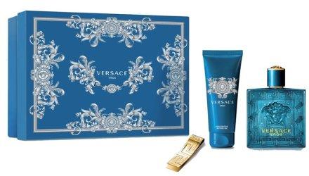 Versace Eros - Комплект (edt/100ml + sh/gel/100ml + money clip) — снимка N1