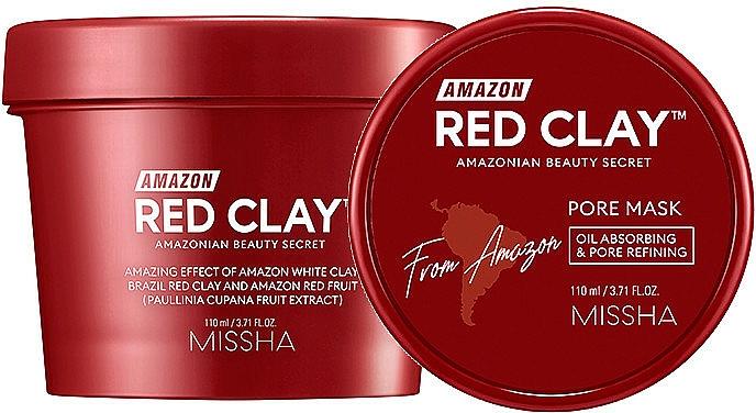Маска на основа на червена глина за лице - Missha Amazon Red Clay Pore Mask