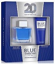 Парфюми, Парфюмерия, козметика Blue Seduction Antonio Banderas - Комплект (тоал. вода/100ml + афтър. балсам/75ml)