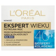 Парфюмерия и Козметика Нощен крем за лице - L'Oreal Paris Age Specialist Expert Night Cream 40+